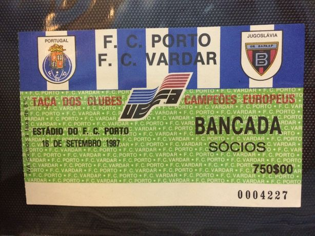 Bilhete do F.C. Porto Vs F.C. Vardar