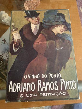 Publicidade antiga Vinho do Porto Adriano Ramos Pinto tem 30X21 cm