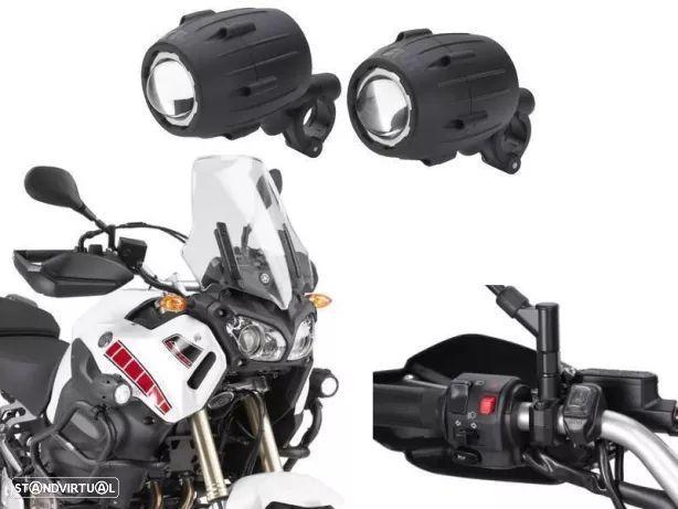 Luz auxiliar para motos Big trial versys 1000 Transalp ktm adventure