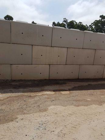 Blocos de beton.