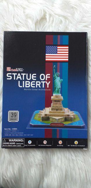 Puzzle układanka 3D, statua wolności. Nowe.