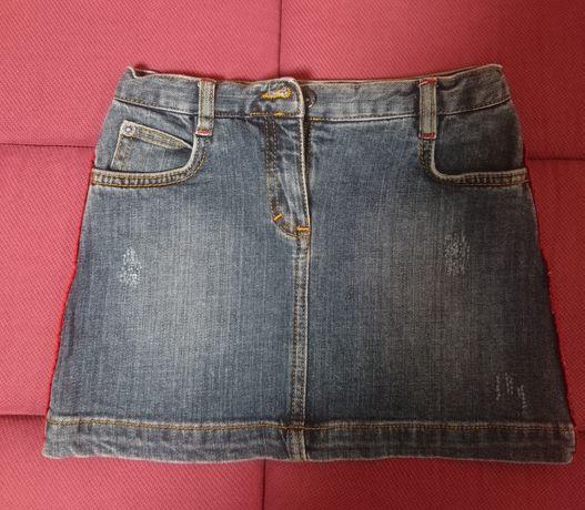 Джинсовая юбка для девочки 6 лет
