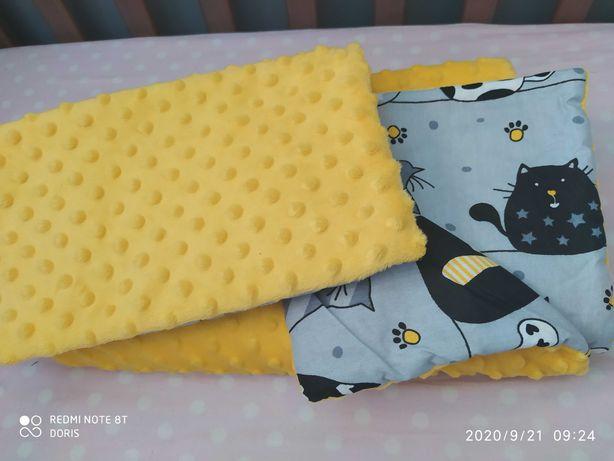 Komplet niemowlęcy Minky plus bawełna do łóżeczka lub wózka