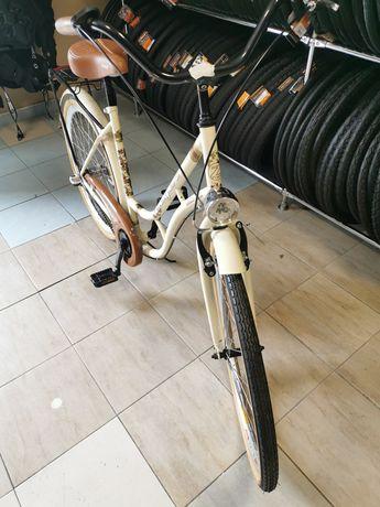 Rower dla dziewczynki miejski brązowy 26cali