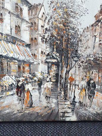 Obrazy ręcznie malowane na płótnie - Paryż