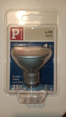 Żarówki LED GU10 4,5W warm white 230V