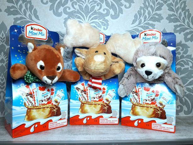 Новогодний набор Kinder с мягкой игрушкой