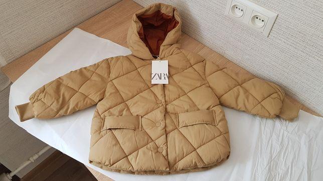 Демисезонная куртка zara. Размер 3-4 года (104см).