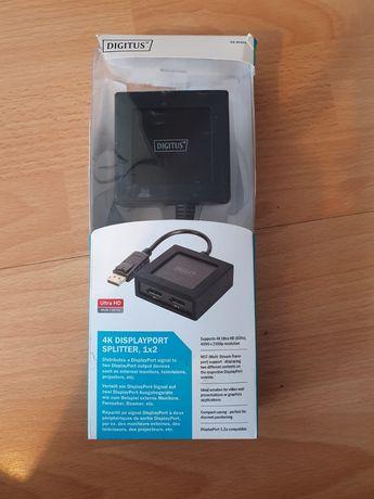 Rozdzielacz DisplayPort na HDMI 1x2 - obsługa MST - 4K splitter