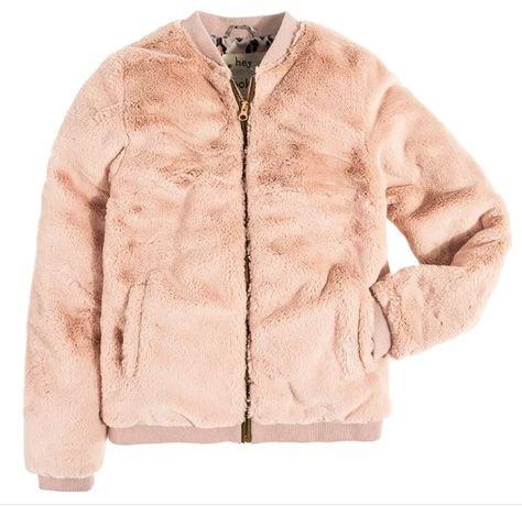 Cool Club kurtka futerko milusia bluza różowa 134 cm