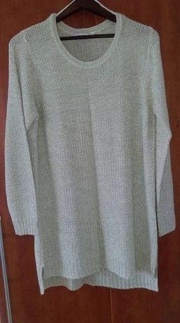 Sweter tunika bluzka C&A rozm xl złota świąteczna