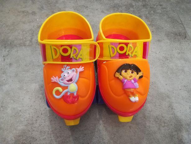 Wrotki dziecięce DORA rozmiar 17-21 cm