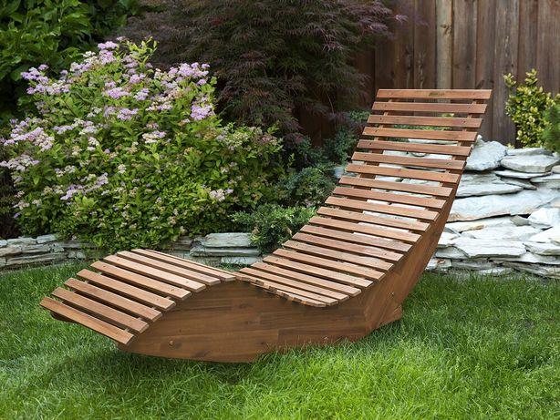 Espreguiçadeira de jardim em madeira de acácia BRESCIA - Beliani