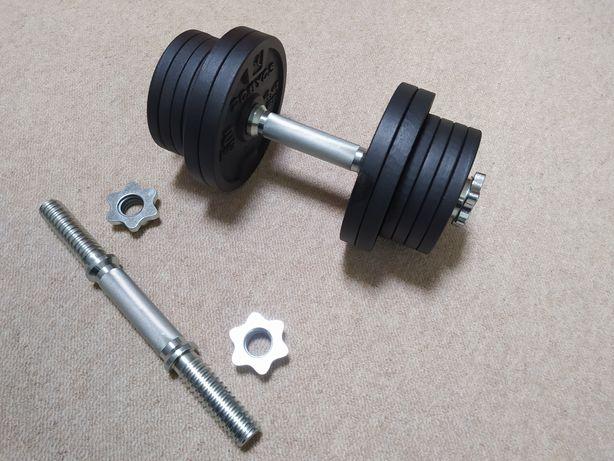 Halteres Musculação Kit 20 KG Bolacha Peso Barra 28mm Rosca