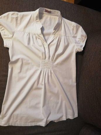 Ekegancka ciążowa biała koszula happy mum r. S