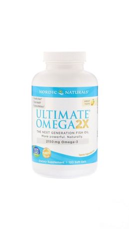Omega 2X, Nordic Naturals, 2150 мг, 120 капсул