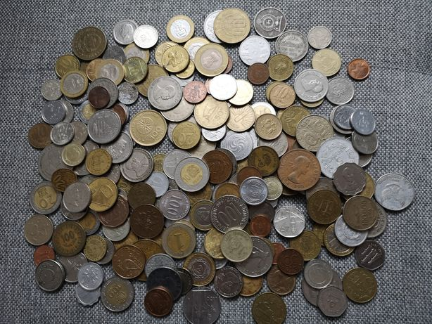 Zestaw monet zagranicznych