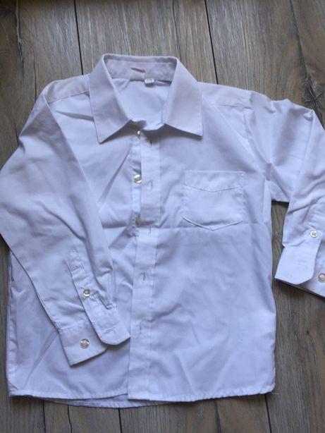Biała koszula wizytowa, smyk, r.110