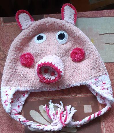 Ciepla czapka Świnka Peppa
