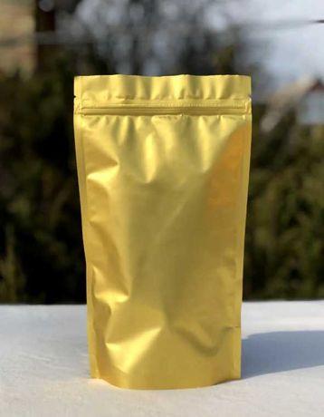 Упаковка ДОЙ-ПАК ЗОЛОТОЙ метализированный  пакеты +бесплатная доставка