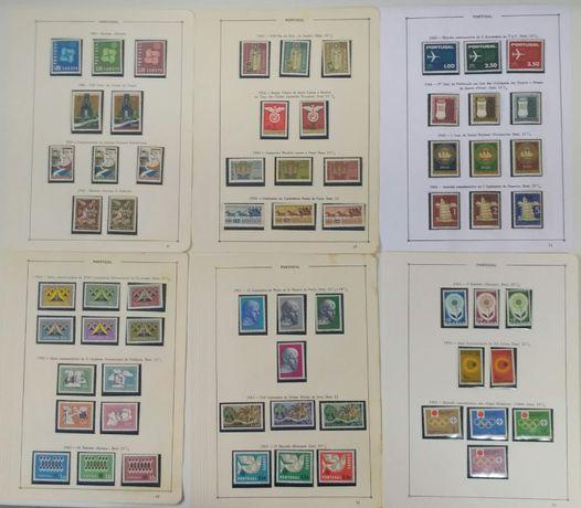 Coleção selos Portugal 1961 a 1971 Novo