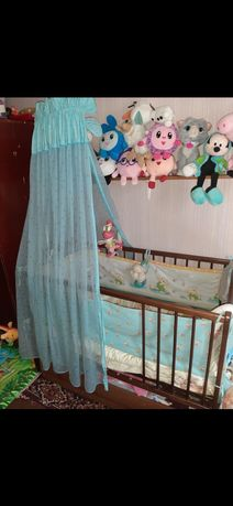 Кроватка дитяча маятник бук