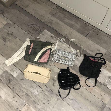 Zestaw małych torebek na pasku/łańcuszku damskich