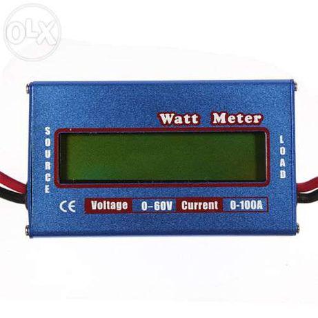 Analisador de painel dc volt amp watt 60v 50a 100a max baterias remote