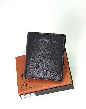 Нове мужское портмоне зажим Buono Leather кошельок шкіра тонке
