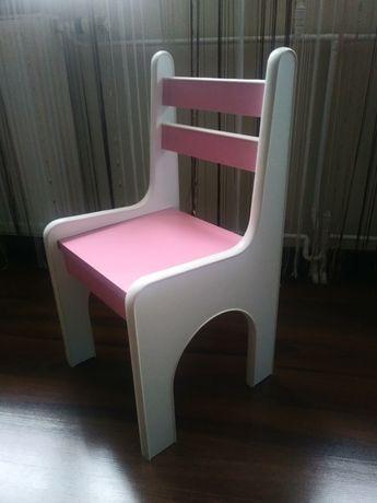 Krzesełka różowe