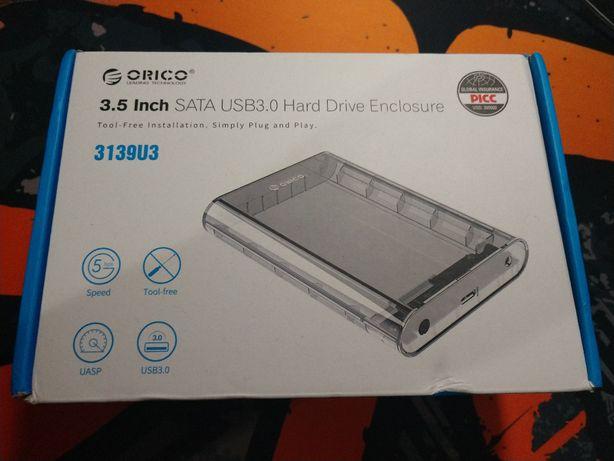 """Внешний Карман для винчестера HDD 3.5"""" ORICO 3139U3-CR прозрачный"""