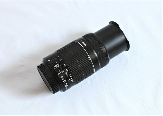 Lente Canon 55-250mm IS II para peças ou para arranjo