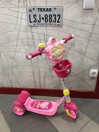 Детский самокат Hello Kitty (розовый) для детей
