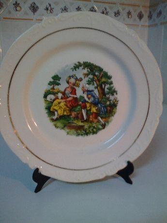 Prato Parede Antigo Colecção Porcelana
