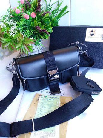 Женская сумка Prada Pocket сумка клатч через плечо прада