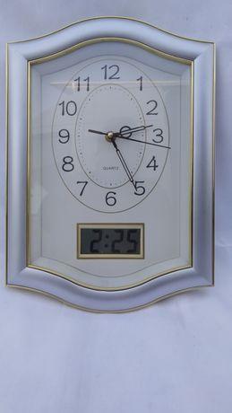Часы настенные (2в1), кварцевые и электронные.