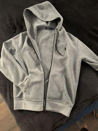 Polo Ralph Lauren bluza rozpinana, szara z kapturem