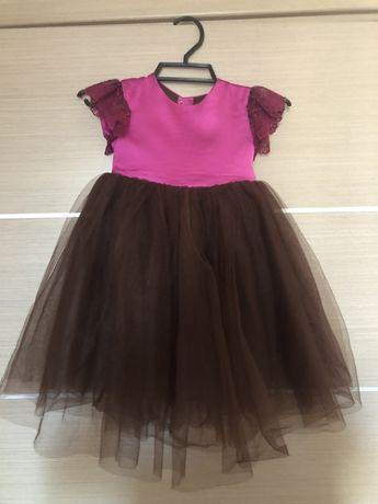 Нарядное платье на малышку 2-3 года, 92-104