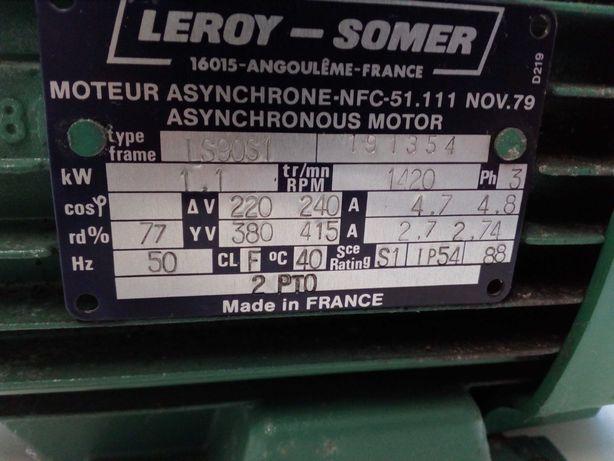 Motor elétrico de marca francesa.