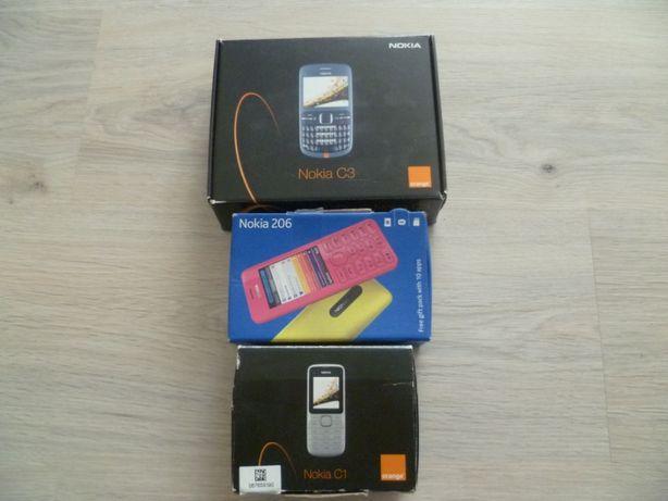 Telefon komórkowy Nokia C1 C3 206 zestaw kolekcjonerski