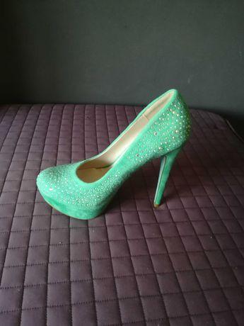 Sapatos Novos verde menta