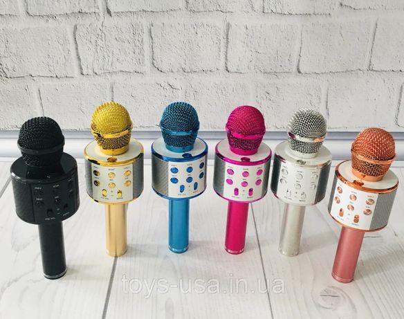 Караоке - МИКРОФОН беспроводной! БЛЮТУЗ микрофоны для занятий вокалом.