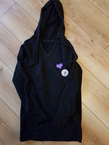 Długa bluza z kapturem S