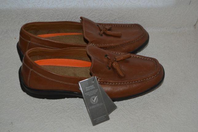 мужские туфли лоферы M&S air flex total comfort 27 см 42 размер Англия