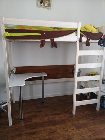 Sprzedam piętrowe łóżko z biurkiem