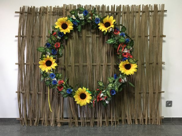 Плетеный забор из лозы тын (декор для дома фото студии)