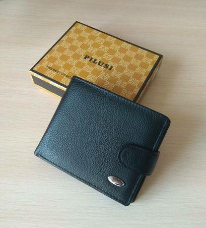Кожаный кошелёк портмоне мужской