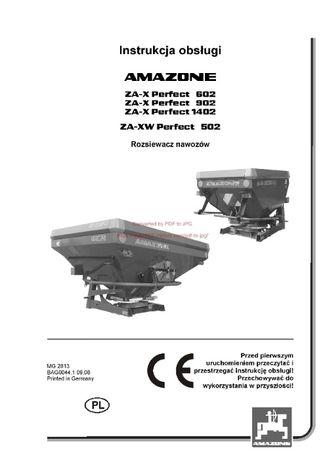 Instrukcja obsługi Rozsiewacz Amazone ZA -X Perfect 602, 902, 1402