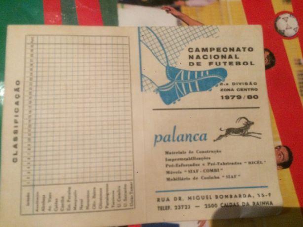 calendário da epoca desportiva de 1979/80, 2ª divisão zona centro