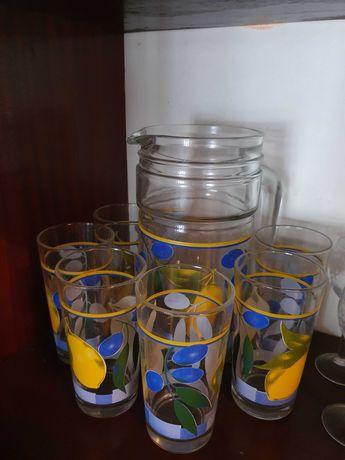 Jarro + 6 copos NOVOS